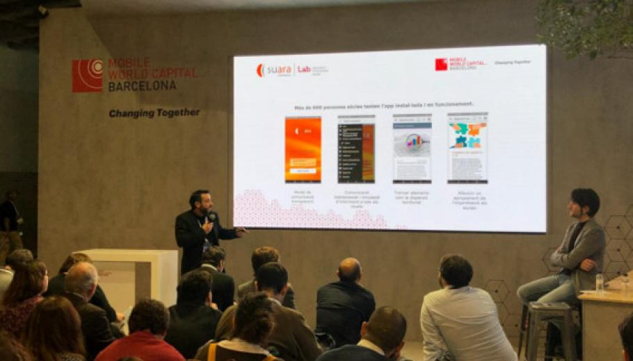 Presentació de la comunitat virtual de Suara al Mobile World Congress